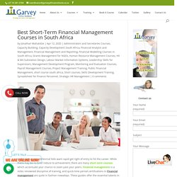 The Best Short-Term Financial Management Courses in South Africa