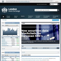 Stock Prices, Financial Markets News, FTSE 100 Index