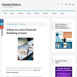 Learn Financial Modeling in Excel - Free Online Videos