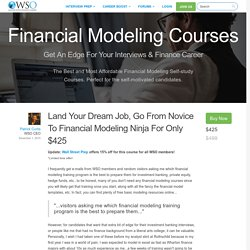Financial Modeling Training Courses - Reviews for Best ...