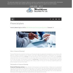 Financial plans - Online financial planning