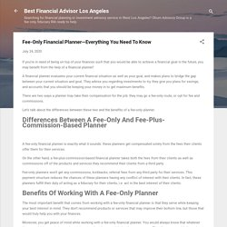 Fee-Only Financial Planner—Everything You Need To Know