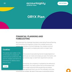 FINANCIAL PLANNING AND FORECASTING - Accountagility