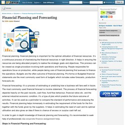 Financial Planning and Forecasting by Julia Lopez