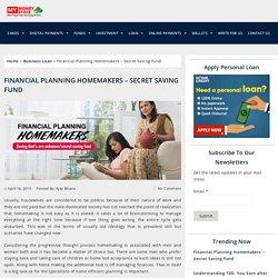 Financial Planning Homemakers – Secret Saving Fund