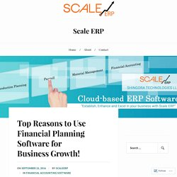 Top Reasons to Use Financial Planning Software for Business Growth! – Scale ERP