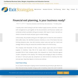 Financial exit planning, Is your business ready?