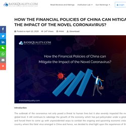 How the Financial Policies of China can Mitigate the Impact of the Novel Coronavirus?