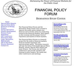FINANCIAL POLICY FORUM -- Derivatives Study Center