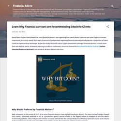 Learn Why Financial Advisors are Recommending Bitcoin to Clients
