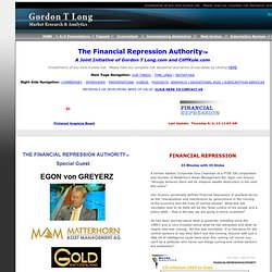 The Financial Repression Authority