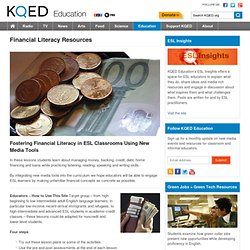Financial Literacy Resources : KQED Education