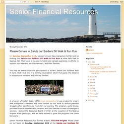 Senior Financial Resources: Please Donate to Salute our Soldiers 5K Walk & Fun Run