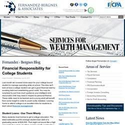 Financial Responsibility for College Students