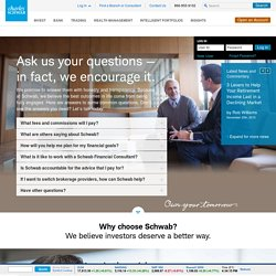 Charles Schwab: Investment Services Including Online Investing