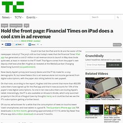 Hold the front page: Financial Times on iPad does a cool £1m in ad revenue