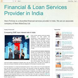 Financial & Loan Services Provider in India: Comparing SME loan interest rate in India