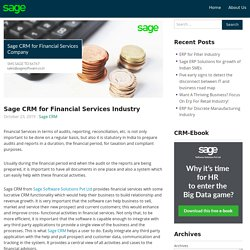 Sage CRM for Financial Services Industry