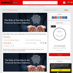 DevOps Success Stories in the Financial Services Industry Article