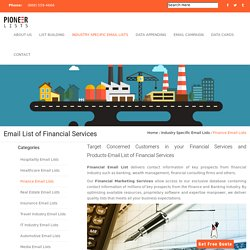Email List of Financial Services - Pioneer Lists