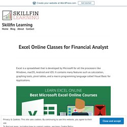 Excel Online Classes for Financial Analyst – Skillfin Learning