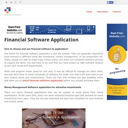 Tech Guide Updates - Financial Software Application