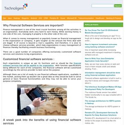 Why Financial Software Services are important?