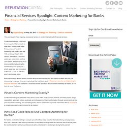 Financial Services Spotlight: Content Marketing for Banks