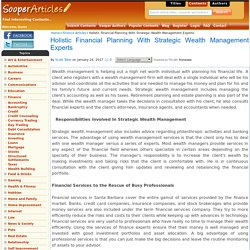 Holistic Financial Planning With Strategic Wealth Management Experts