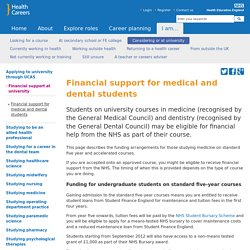 Financial support for medical and dental students