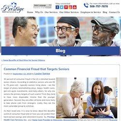 Common Financial Fraud that Targets Seniors