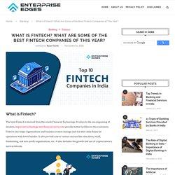 Financial Technology - Top 10 Fintech Companies In India