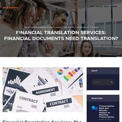 Financial Translation Services: Financial Documents Need Translation?