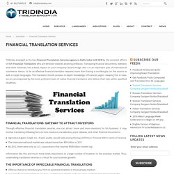 How Do Financial Translation Services Lure Business Investors ?
