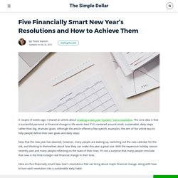 Five Financially Smart New Year's Resolutions and How to Achieve Them