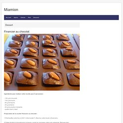 Financier au chocolat