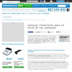 Consejos para el éxito del autónomo en la gestión financiera
