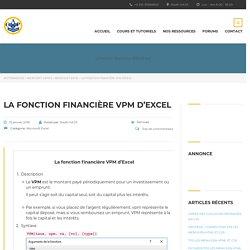 La fonction financière VPM d'Excel - apcpedagogie
