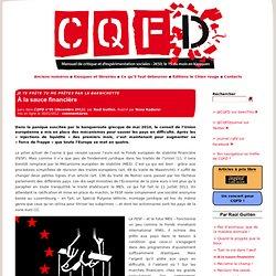 À la sauce financière - CQFD, mensuel de critique sociale