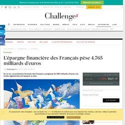 L'épargne financière des Français pèse 4.765 milliards d'euros
