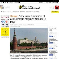 """""""Une crise financière et économique majeure menace le pays"""""""