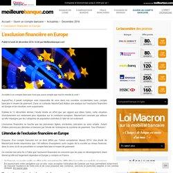 L'exclusion financière en Europe - MeilleureBanque.com