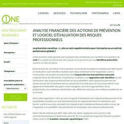 Analyse financière des actions de prévention et logiciel d'évaluation des risques professionnels