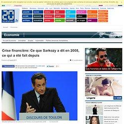 Crise financière: Ce que Sarkozy a dit en 2008, ce qui a été fait depuis