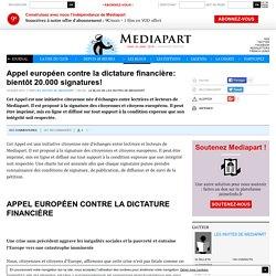 Appel européen contre la dictature financière