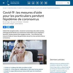 Aides financières Coronavirus : indemnités, chômage, report...