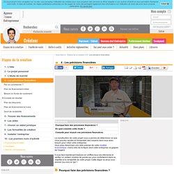 4 - Les prévisions financières - AFE, Agence France Entrepreneur