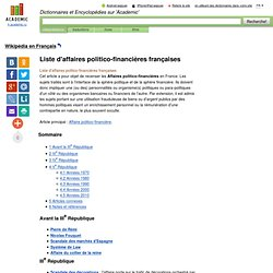 Liste d'affaires politico-financières françaises