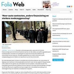 'Meer vaste contracten, andere financiering en sterkere medezeggenschap'