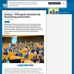 Analyse - VVD speelt sleutelrol bij financiering universiteit - resource.wageningenur.nl